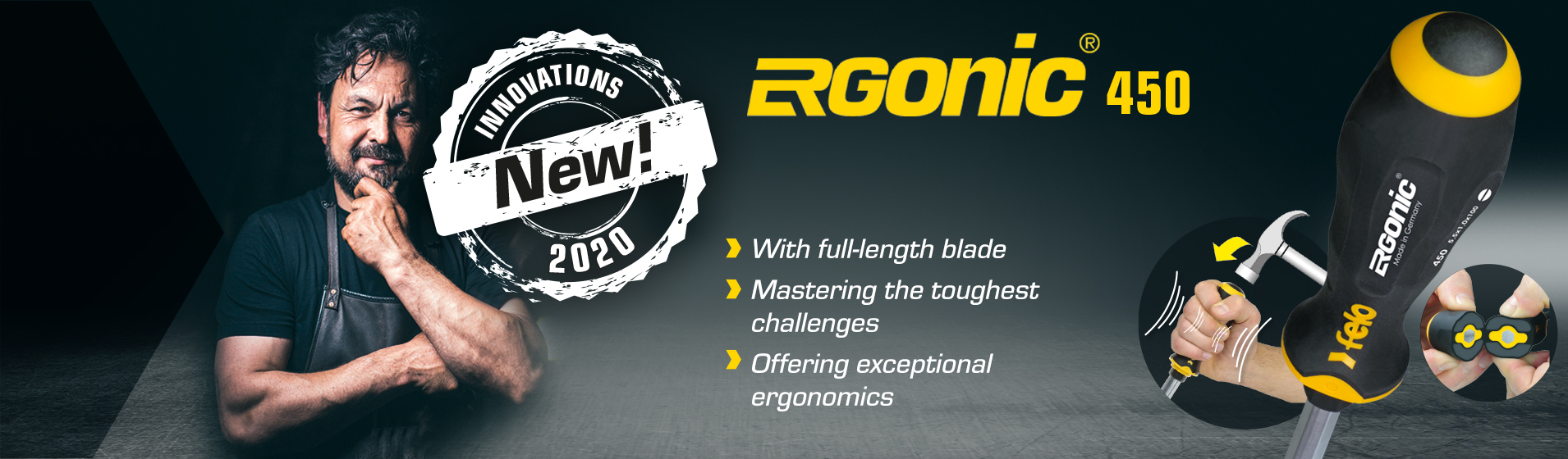 ERGONIC series 450 – The new ERGONIC with hammer head