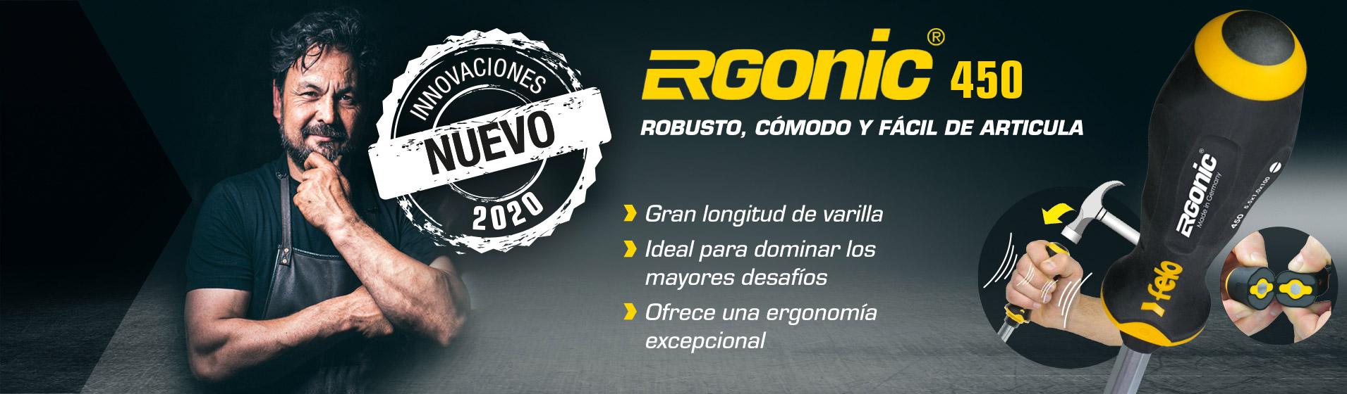 Serie 450 – El nuevo destornillador ERGONIC de cincel